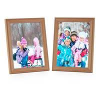 2er Set Landhaus-Bilderrahmen 13x18 cm Eiche-Optik Massivholz mit Glasscheibe und Zubehör / zum Stellen oder Hängen / Fotorahmen  – Bild 7
