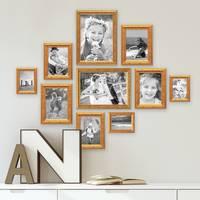 10er Bilderrahmen-Set Antik Gold Nostalgie 10x15 bis 21x30 cm Fotorahmen mit Glasscheibe / inklusive Zubehör – Bild 2
