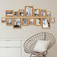 15er Bilderrahmen-Set Antik Gold Nostalgie 10x15 bis 21x30 cm Fotorahmen mit Glasscheibe / inklusive Zubehör – Bild 2