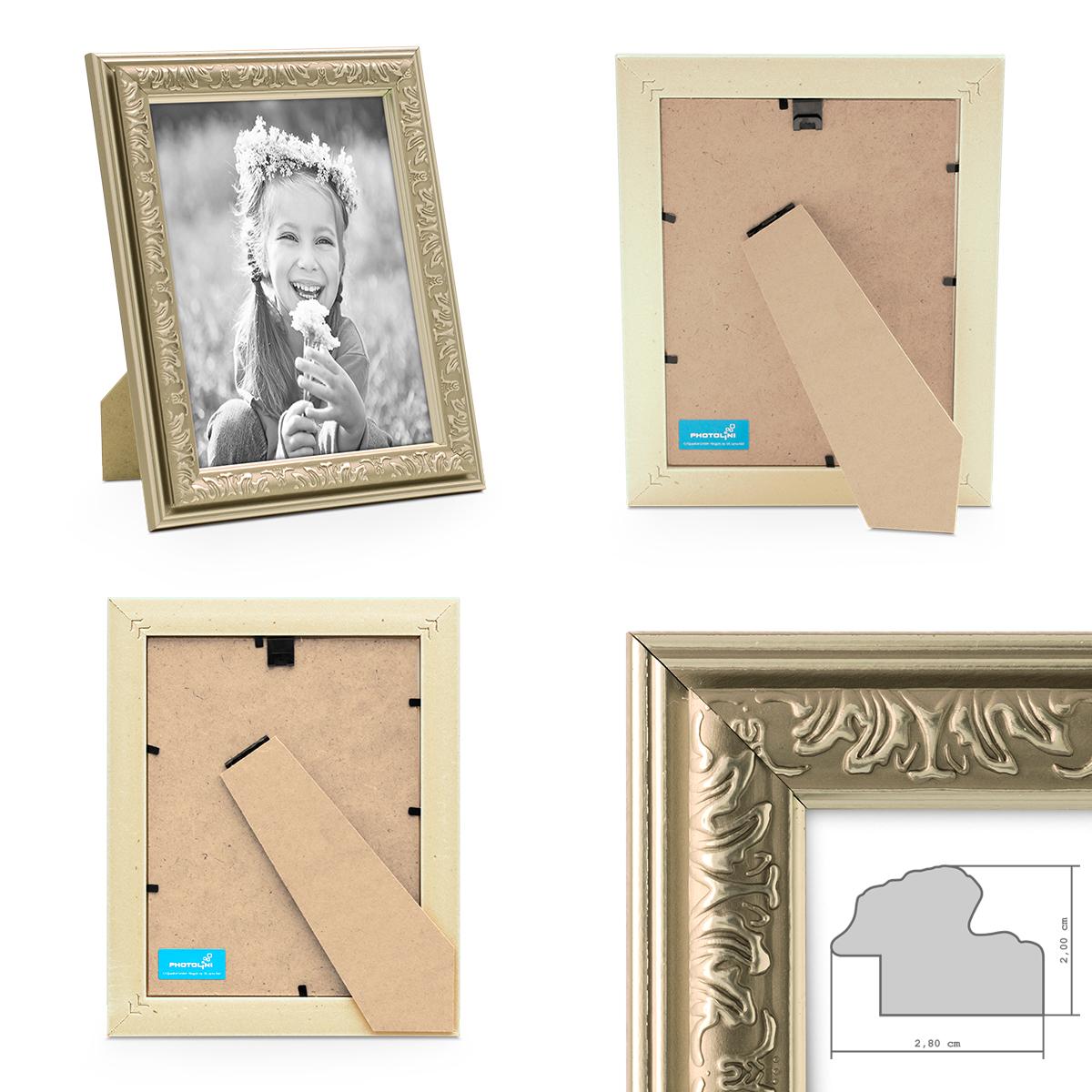 8er Bilderrahmen-Set Antik Silber Nostalgie 10x15 bis 21x30 cm ...