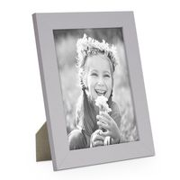 B-Ware: 15x20 cm Photolini Basic Collection Modern Silber aus MDF