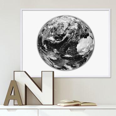 Poster 'Earth' 40x50 cm schwarz-weiss Motiv Motiv Erde Welt