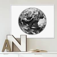 Poster Earth 40x50 cm schwarz-weiss Motiv Motiv Erde Welt