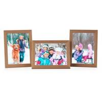 3er Set Landhaus-Bilderrahmen 15x20 cm Eiche-Optik Massivholz mit Glasscheibe und Zubehör / zum Stellen oder Hängen / Fotorahmen  – Bild 7