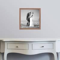 3er Set Landhaus-Bilderrahmen 30x30 cm Eiche-Optik Massivholz mit Glasscheibe und Zubehör / Fotorahmen  – Bild 2