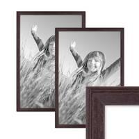 2er Set Landhaus-Bilderrahmen 30x40 cm Nuss Modern Massivholz