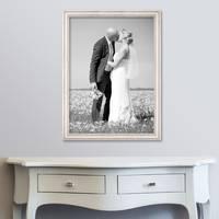 Bilderrahmen 60x80 cm Weiss Landhaus-Stil Massivholz m. Acrylglas inkl. Zubehör / Fotorahmen  – Bild 2