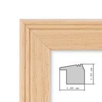 2er Set Landhaus-Bilderrahmen 18x24 cm Holz Natur Massivholz mit Glasscheibe und Zubehör / Fotorahmen  – Bild 2