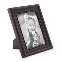 2er Set Bilderrahmen Shabby-Chic Landhaus-Stil Dunkelbraun 18x24 cm Massivholz mit Glasscheibe und Zubehör / Fotorahmen  – Bild 5