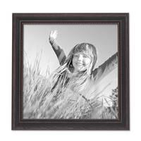 2er Set Bilderrahmen Shabby-Chic Landhaus-Stil Dunkelbraun 30x30 cm Massivholz mit Glasscheibe und Zubehör / Fotorahmen  – Bild 3