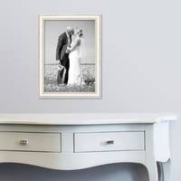 3er Set Bilderrahmen Shabby-Chic Landhaus-Stil Weiss 30x40 cm Massivholz mit Glasscheibe und Zubehör / Fotorahmen  – Bild 5