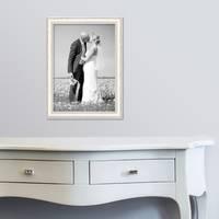 2er Set Bilderrahmen Shabby-Chic Landhaus-Stil Weiss 30x42 cm / DIN A3 Massivholz mit Glasscheibe und Zubehör / Fotorahmen  – Bild 5