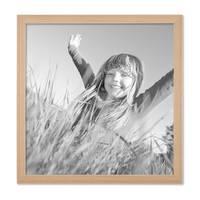 5er Set Landhaus-Bilderrahmen 30x30 cm Holz Natur Massivholz mit Glasscheibe und Zubehör / Fotorahmen  – Bild 4