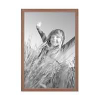 5er Set Landhaus-Bilderrahmen 30x40 cm Eiche-Optik Massivholz mit Glasscheibe und Zubehör / Fotorahmen  – Bild 4