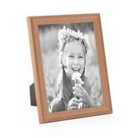 5er Set Landhaus-Bilderrahmen 15x20 cm Eiche-Optik Massivholz mit Glasscheibe zum Stellen oder Hängen – Bild 5