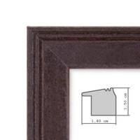 5er Set Landhaus-Bilderrahmen 20x20 cm Nuss Modern Massivholz mit Glasscheibe und Zubehör / Fotorahmen  – Bild 2