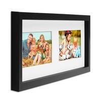 Collagerahmen Modern, Schwarz, Objektrahmen aus MDF für 2 Bilder 10x15 cm
