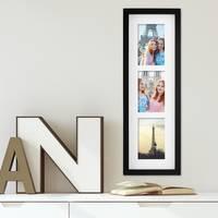 Fotocollage-Bilderrahmen Modern, Schwarz, MDF-Objektrahmen, Bildergalerie-Rahmen Tief für 3 Bilder 10x15 cm, 3D-Rahmen mit Passepartout – Bild 4