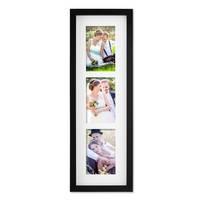 Fotocollage-Bilderrahmen Modern, Schwarz, MDF-Objektrahmen, Bildergalerie-Rahmen Tief für 3 Bilder 10x15 cm, 3D-Rahmen mit Passepartout – Bild 3