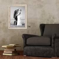 2er Set Vintage Bilderrahmen 30x42 cm / DIN A3 Weiss Shabby-Chic Massivholz mit Glasscheibe und Zubehör / Fotorahmen / Nostalgierahmen  – Bild 6