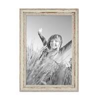 2er Set Vintage Bilderrahmen 30x42 cm / DIN A3 Weiss Shabby-Chic Massivholz mit Glasscheibe und Zubehör / Fotorahmen / Nostalgierahmen  – Bild 5