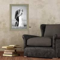 2er Set Vintage Bilderrahmen 30x40 cm Grau-Grün Shabby-Chic Massivholz mit Glasscheibe und Zubehör / Fotorahmen / Nostalgierahmen  – Bild 6