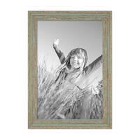 2er Set Vintage Bilderrahmen 30x42 cm / DIN A3 Grau-Grün Shabby-Chic Massivholz mit Glasscheibe und Zubehör / Fotorahmen / Nostalgierahmen  – Bild 5