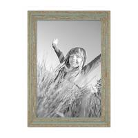 3er Set Vintage Bilderrahmen 30x45 cm Grau-Grün Shabby-Chic Massivholz mit Glasscheibe und Zubehör / Fotorahmen / Nostalgierahmen  – Bild 5