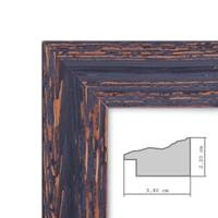 2er Set Vintage Bilderrahmen 30x30 cm Holz Dunkelbraun Shabby-Chic Massivholz mit Glasscheibe und Zubehör / Fotorahmen / Nostalgierahmen  – Bild 2