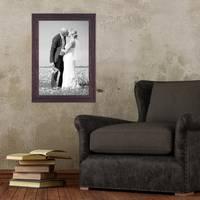 2er Set Vintage Bilderrahmen 30x40 cm Holz Dunkelbraun Shabby-Chic Massivholz mit Glasscheibe und Zubehör / Fotorahmen / Nostalgierahmen  – Bild 6