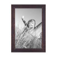 2er Set Vintage Bilderrahmen 30x42 cm / DIN A3 Holz Dunkelbraun Shabby-Chic Massivholz mit Glasscheibe und Zubehör / Fotorahmen / Nostalgierahmen  – Bild 5