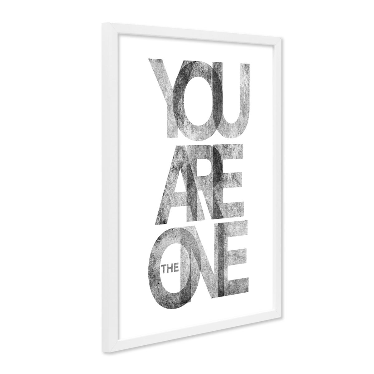 Design-Poster mit Bilderrahmen Weiss \'The One\' 30x40 cm schwarz ...