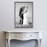 Bilderrahmen 50x70 cm Silber Barock Antik Massivholz m. Acrylglas inkl. Zubehör / Fotorahmen / Barock-Rahmen  – Bild 2