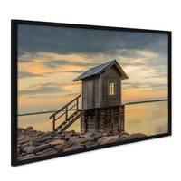 Poster 'Hütte' 40x50 cm Motiv Natur Landschaft Foto Sonnenuntergang – Bild 3