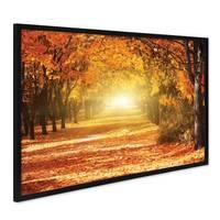Poster mit Bilderrahmen Schwarz 'Herbst' 40x50 cm Motiv Herbstwald Natur Landschaft Foto Sonnenuntergang – Bild 1