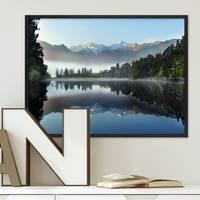 Poster mit Bilderrahmen Schwarz 'See' 30x40 cm Motiv Natur Landschaft Wasser Foto – Bild 2