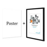 Design-Poster mit Bilderrahmen Schwarz 'Frau Abstrakt' 30x40 cm schwarz-weiss Motiv Mode Fashion – Bild 5