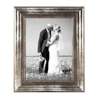 5er Set Bilderrahmen 21x30 cm / DIN A4 Silber Barock Antik Massivholz mit Glasscheibe und Zubehör / Fotorahmen / Barock-Rahmen  – Bild 3
