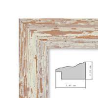 Vintage Bilderrahmen 10x10 cm Weiss Shabby-Chic Massivholz mit Glasscheibe und Zubehör / Fotorahmen / Nostalgierahmen  – Bild 3