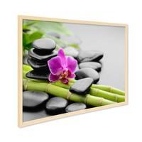 Poster mit Bilderrahmen Natur 'Spa' 30x40 cm Motiv Wellness Zen Steine Foto