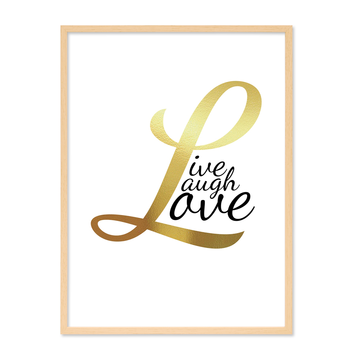 Design-Poster mit Bilderrahmen Natur \'Love Gold\' 30x40 cm ...