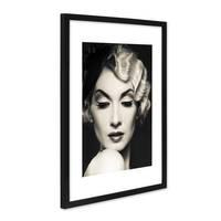 Poster 'Frau' 30x40 cm schwarz-weiss Motiv Diva Foto Porträt – Bild 4