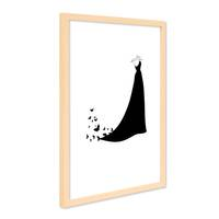 Design-Poster mit Bilderrahmen Natur 'Dress' 30x40 cm schwarz-weiss Motiv Kleid Mode Fashion
