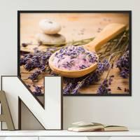 Poster mit Bilderrahmen Schwarz 'Löffel' 30x40 cm Motiv Lavendel Foto Küchenbild Modern – Bild 2