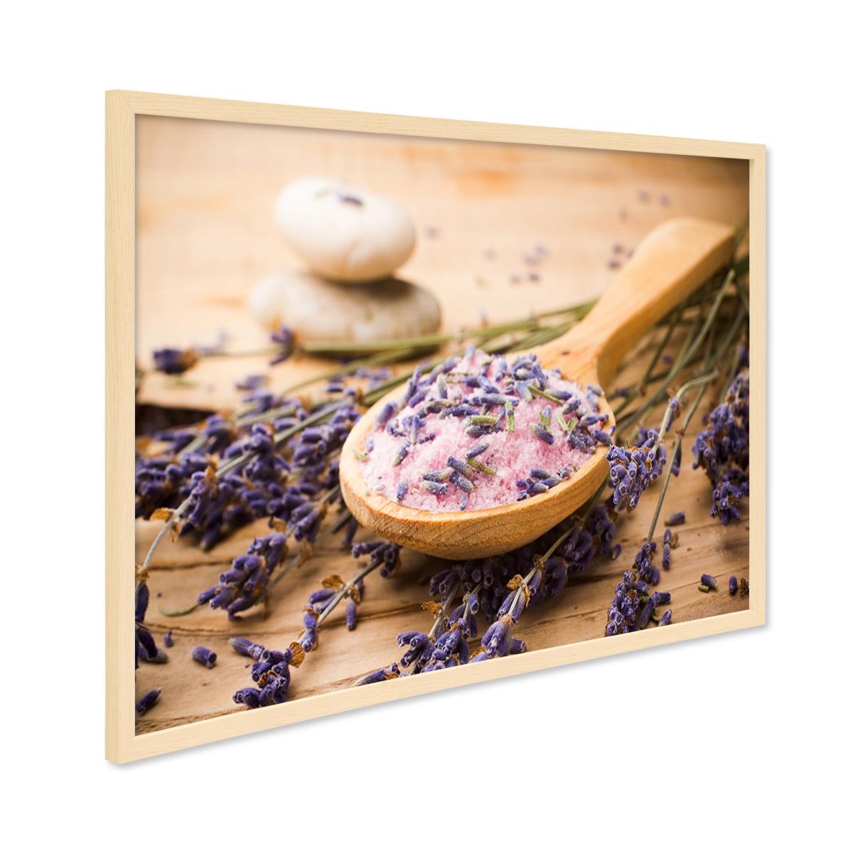 Poster mit Bilderrahmen Natur \'Löffel\' 30x40 cm Motiv Lavendel Foto ...