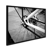 Poster mit Bilderrahmen Schwarz 'Fahrrad' 30x40 cm schwarz-weiss Motiv Bike Foto – Bild 2
