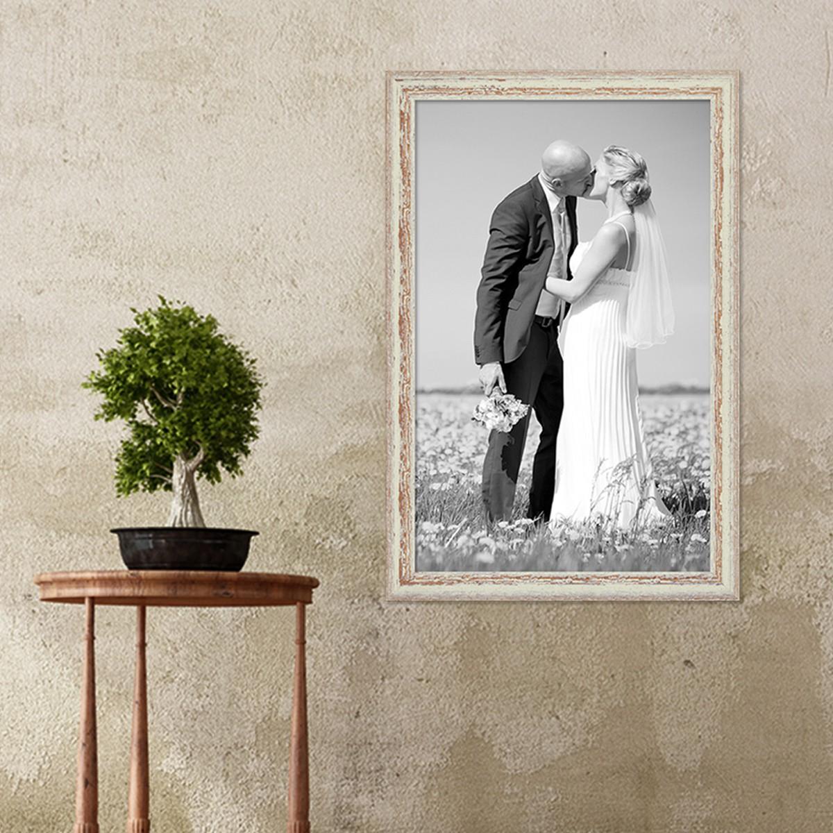 Sehr Gut Bilderrahmen 40x60 cm Weiss Shabby-Chic Vintage Massivholz mit  XX94