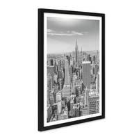 Poster mit Bilderrahmen Schwarz 'New York City' 30x40 cm schwarz-weiss Motiv Landkarte Skyline – Bild 2