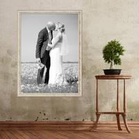 Vintage Bilderrahmen 60x80 cm Weiss Shabby-Chic Massivholz m. Acrylglas inkl. Zubehör / Fotorahmen / Nostalgierahmen  – Bild 2