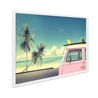 Poster mit Bilderrahmen Weiss 'Vintage Car' 30x40 cm Motiv Bulli Strandbild Natur Landschaft Foto – Bild 2